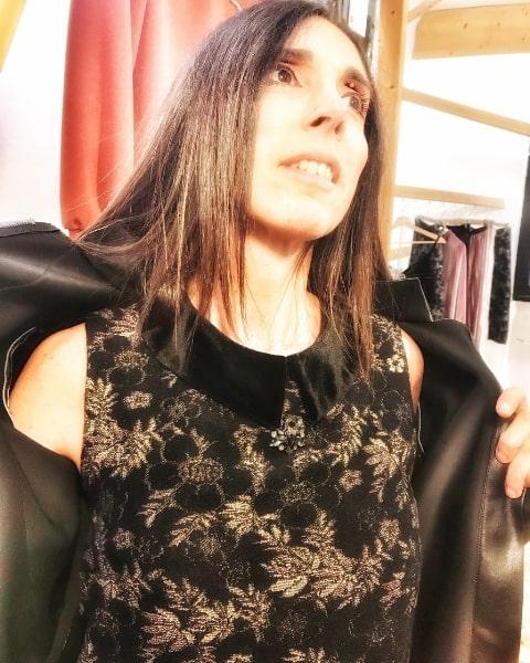 Outfit Natale in lurex di Daniela Barbarossa