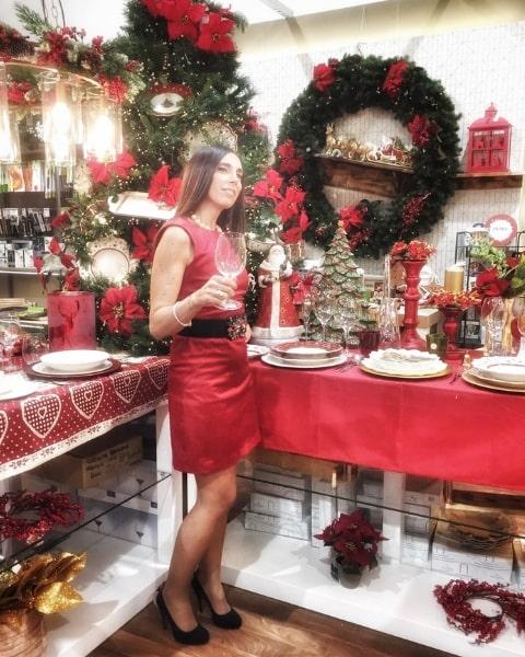 Outfit feste di Natale in rosso di Daniela Barbarossa