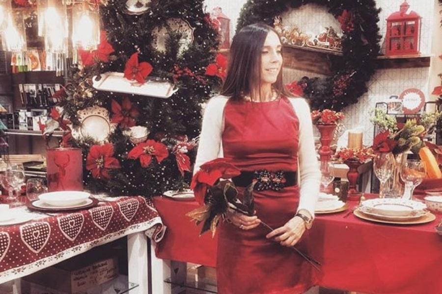 outfit natalizi trendy di Daniela Barbarossa