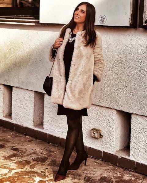 Pelliccia eco-fur in outfit San Valentino
