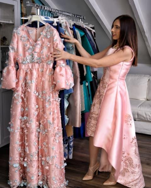 abito rosa Ylenia Mangano