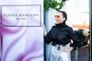 Daniela Barbarossa all'evento per la presentazione della Capsule Collection di Ylenia Mangano