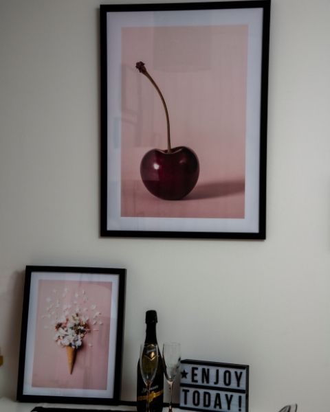 Cherry poster e Flower cone pink by Desenio