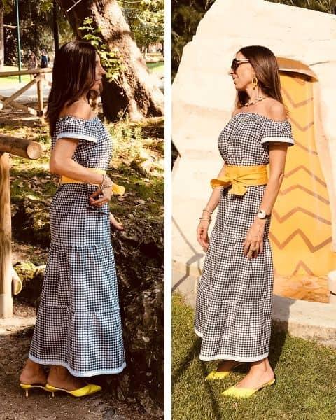 vestito con fantasia quadretti Vichy, una delle tendenze estate 2020